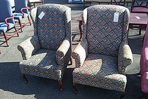 Matching wingback chairs for Sale in Camden, NJ