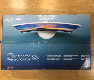 "Samsung 32"" curve monitor - open box for Sale in Rancho Palos Verdes, CA"