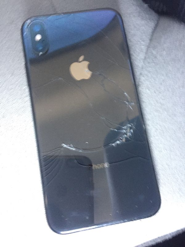 iPhone 10x unlocked no issues just small crack on back