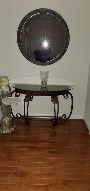 Glass table and mirror for Sale in Rockville, MD