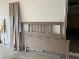 IKEA queen mattress and bedframe for Sale in Anaheim, CA