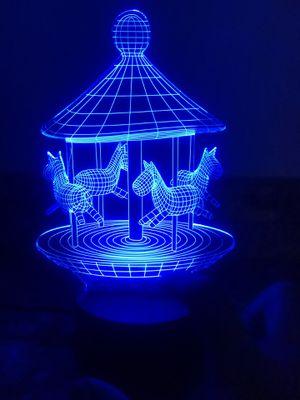 Beautiful carrousel 3d lamp 🎪 for Sale in Las Vegas, NV