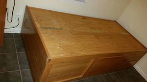 Twin bed with real wood drawers and storage for Sale in Gulfport, MS