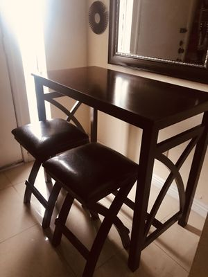 Small Kitchen table with 2- stools $145 (Decorations are not include) for Sale in Whittier, CA
