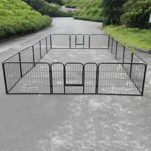 New in box 24 inch tall x 32 inches wide each panel x 16 panels exercise playpen fence safety gate dog cage crate kennel perrera cerca for Sale in Whittier, CA