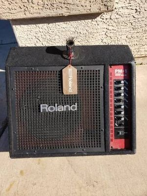 Roland PM-1 electric drum amplifier or personal monitor with wheels and drum mount, 4 channel for Sale in Avondale, AZ