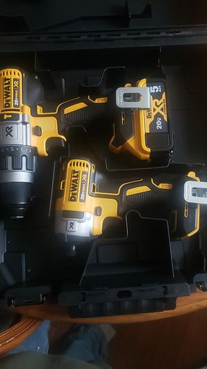 DeWalt XR drill/driver with Impact with 2 5amp batteries for Sale in Lancaster, PA