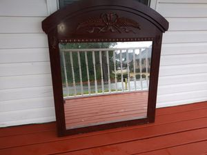 Mirror, swing back chair, antique end table for Sale in Porterdale, GA