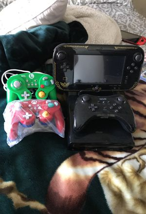 Wii U console with legend of Zelda game pad for Sale in Las Vegas, NV