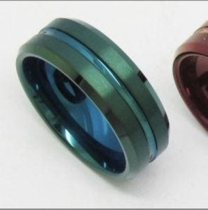 Tungsten Carbide Ring - Size 10.5, Green for Sale in Newburgh, ME