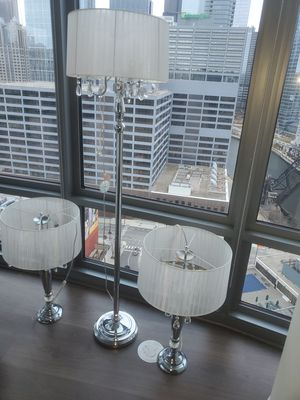 3 Nice crystal lamps for Sale in Chicago, IL