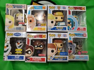 *$15 EACH/2 FOR $25* Funko Pop Vinyl Figures Disney Star Wars Marvel DC Dragonball Z exclusive for Sale in Cypress, CA