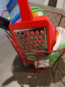 Red Kitchen Accessories Basket ❤ for Sale in Garland,  TX