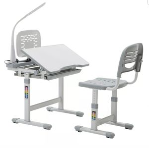 Adjustable children desk chair set with lamp for Sale in Houston, TX