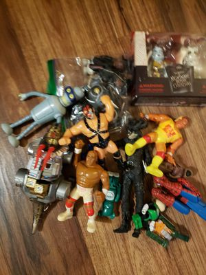 Vintage 80s 90s action figures transformers wwe spider man for Sale in Phoenix, AZ
