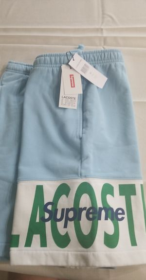 Supreme Lacoste sweatshort light blue. Size Medium *SOLD OUT* for Sale in Orlando, FL