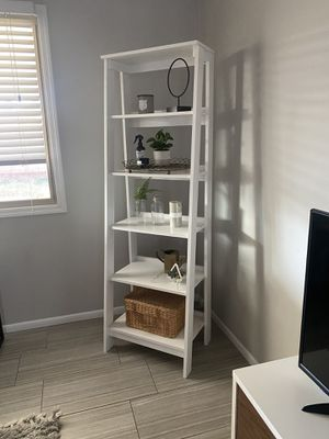 Large white ladder shelf for Sale in Phoenix, AZ
