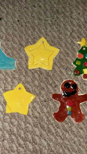 Christmas ornaments made from clay for Sale in Germantown, MD