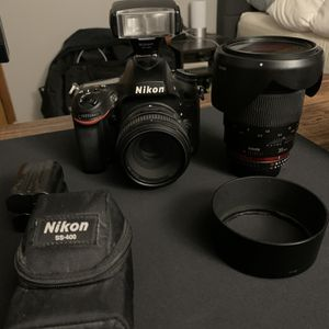 Nikon D600 with multiple lenses and SB-400 Flash for Sale in Huntington Station, NY