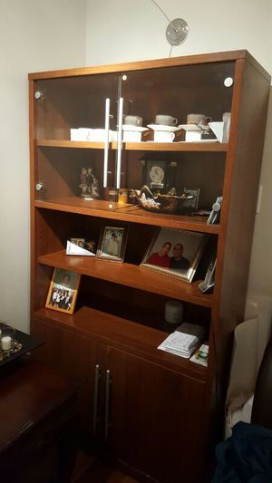High cabinet/ glass doors for Sale in Silver Spring, MD