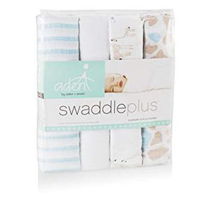 """Aden by Aden + Anais Swaddle Blankets 4-Pack 44"""" x 44"""" for Sale in Rockville, MD"""