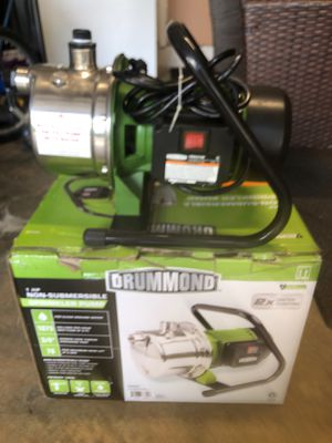 Drummond 1-HP Non-Submersible sprinkler pump for Sale in Miami, FL