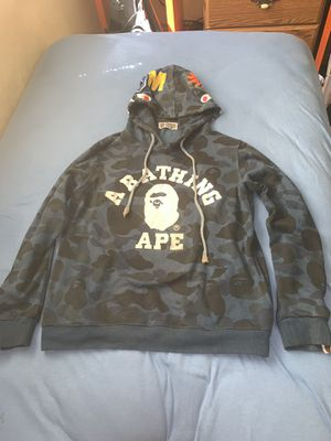 A bathing ape Blue camo Bape Hoodie for Sale in Roselle, IL