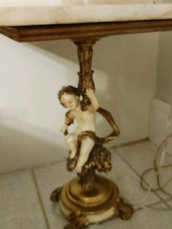 Antique Angel Table With Lamp for Sale in East Liverpool,  OH