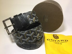 Goyard Authentic Copter Vaughn Leather Black Belt for Sale in Queens, NY