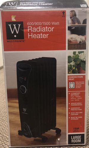 Westpointe Convection Radiator Electric Heater for Sale in Philadelphia, PA