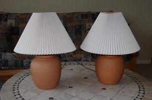 Terracotta Bean Pot Lamps Set of 2 for Sale in Gilbert, AZ