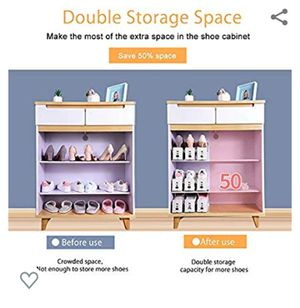 Shoe Slots Organizer,Adjustable Shoe Slots Rack,Space Saver for Closet,Better Stability Shoe Organizer with More Stable Base,10 Packs for Sale in El Monte, CA