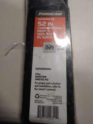 """52 """" power care Riding Mower Blades for Sale in Tucson, AZ"""