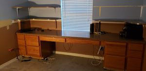 Desk top, cabinets, and 4 overhead corner shelves for Sale in Cape Coral, FL