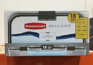 Rubbermaid 18Pcs Set Brilliance Food Storage Recipiente Container de comida for Sale in Miami, FL