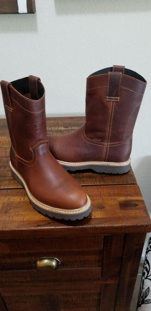 Mens Pull On Work Boots brand new/ Botas De Trabajo Para Caballero- Nuevas for Sale in Heath, TX