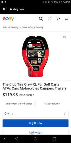 The club tire claw xL for Sale in San Antonio,  TX