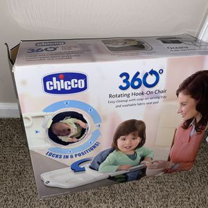 Chicco 360 Rotating Hook on Chair Color : oceana NEW ... only pickup for Sale in Spartanburg, SC