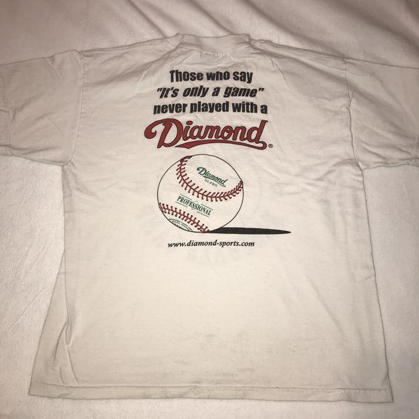 Tom Hicks baseball camp white t shirt tee kids youth large 14 16 A024