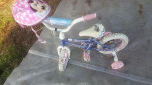 Girls bike with helmet for Sale in ABAC, GA