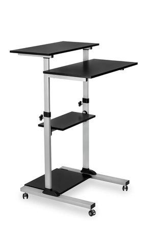 Mobile Standing Desk/Height Adjustable Stand Up Computer Work Station for Sale in Modesto, CA