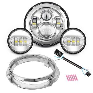 """Motorcycle 7"""" LED Headlight for Harley Davidson Road King, Road Glide, Street Glide and Electra Glide,Ultra Limited with 4-1/2 LED Passing Lamps for Sale in Anaheim, CA"""