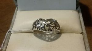 92.5 Solid Sterling Silver Heart Ring. for Sale in Pawtucket, RI