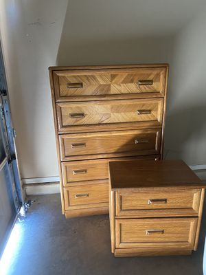 Solid oak Antique dresser and nightstand *Solid Oak* for Sale in Chandler, AZ