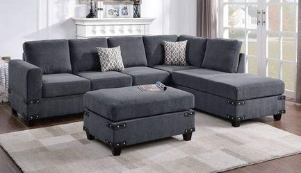 Reversible sectional and ottoman. Price firm. Check description for Sale in La Verne,  CA