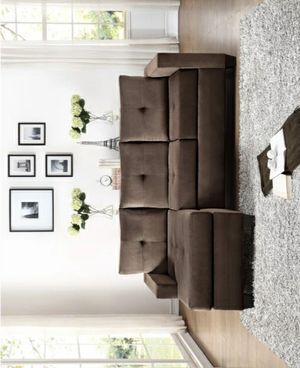 Columbus Day Special- [SPECIAL]Phelps Chocolate Reversible Sofa Chaise for Sale in Houston, TX
