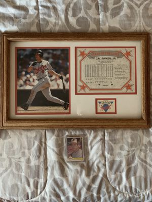 Cal Ripken Framed picture and roomie card for Sale in Roseville, CA