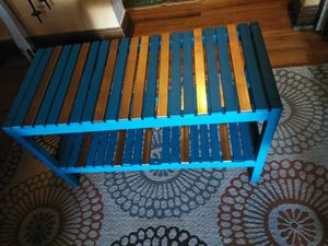 Turquoise and gold hand painted table for Sale in Denver, CO