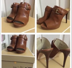 Michael kors brown shoes size 8.5 make me an offer the regular price is $165 for Sale in Gaithersburg, MD