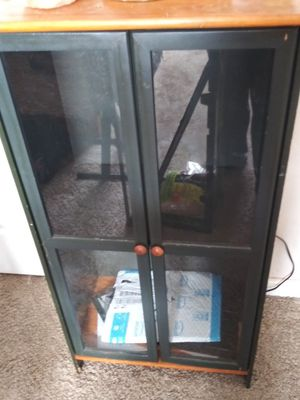 Small bookcase with glass doors for Sale in Oakland Park, FL